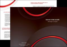 creer modele en ligne depliant 2 volets  4 pages  web design rouge gris contexture MLGI76732
