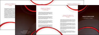 impression depliant 4 volets  8 pages  web design rouge gris contexture MLGI76734