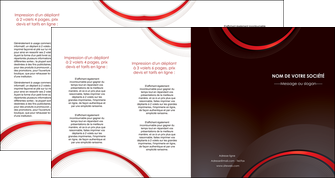 creation graphique en ligne depliant 4 volets  8 pages  web design rouge gris contexture MLGI76738