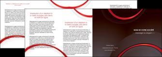 creer modele en ligne depliant 4 volets  8 pages  web design rouge gris contexture MLGI76740
