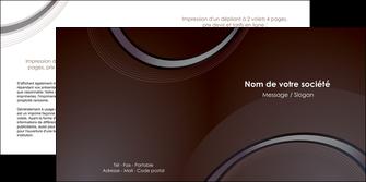 Imprimer Depliant 2 Volets 4 Pages Web Design Gris Fond Neutre MLGI76774