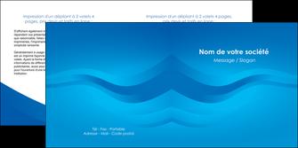 faire modele a imprimer depliant 2 volets  4 pages  web design bleu fond bleu bleu pastel MIF77032