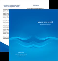 faire depliant 2 volets  4 pages  web design bleu fond bleu bleu pastel MIF77034
