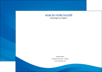 maquette en ligne a personnaliser affiche web design bleu fond bleu bleu pastel MIF77044