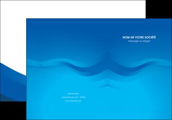 faire modele a imprimer pochette a rabat web design bleu fond bleu bleu pastel MIF77048