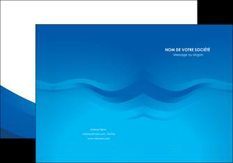 impression pochette a rabat web design bleu fond bleu bleu pastel MIF77050
