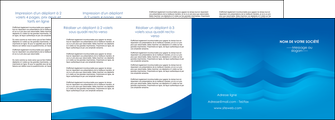 modele depliant 4 volets  8 pages  web design bleu fond bleu bleu pastel MIF77066