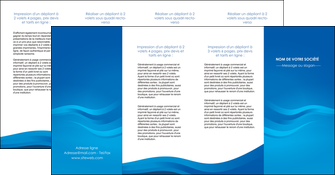 modele depliant 4 volets  8 pages  web design bleu fond bleu bleu pastel MIF77070