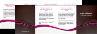 modele en ligne depliant 4 volets  8 pages  web design violet fond violet marron MIF77086