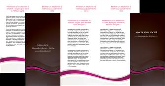 faire modele a imprimer depliant 4 volets  8 pages  web design violet fond violet marron MIF77088
