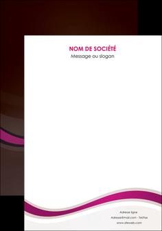 impression flyers web design violet fond violet marron MIF77090