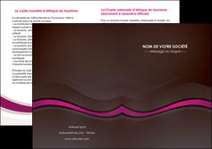 realiser depliant 2 volets  4 pages  web design violet fond violet marron MIF77096