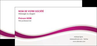 faire carte de correspondance web design violet fond violet marron MIF77098