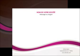 cree flyers web design violet fond violet marron MIF77102