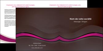 exemple depliant 2 volets  4 pages  web design violet fond violet marron MIF77106