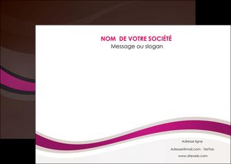 cree flyers web design violet fond violet marron MIF77108