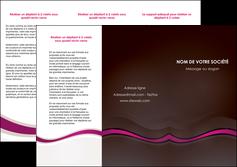 modele depliant 3 volets  6 pages  web design violet fond violet marron MIF77110