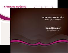 imprimerie carte de visite web design violet fond violet marron MIF77120