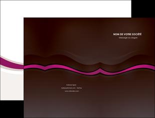 maquette en ligne a personnaliser pochette a rabat web design violet fond violet marron MIF77122