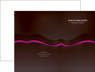 modele pochette a rabat web design violet fond violet marron MIF77124