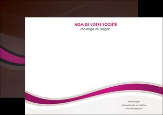 maquette en ligne a personnaliser affiche web design violet fond violet marron MIF77132