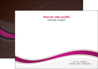 personnaliser modele de flyers web design violet fond violet marron MIF77134
