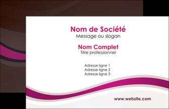 creer modele en ligne carte de visite web design violet fond violet marron MIF77136