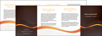 faire modele a imprimer depliant 4 volets  8 pages  web design orange gris texture MIF77190