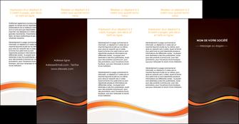 creation graphique en ligne depliant 4 volets  8 pages  web design orange gris texture MIF77192