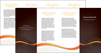 creation graphique en ligne depliant 4 volets  8 pages  web design orange gris texture MIF77192