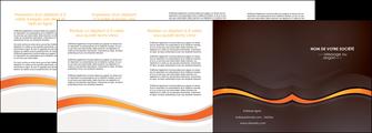 imprimer depliant 4 volets  8 pages  web design orange gris texture MIF77196