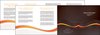imprimer depliant 4 volets  8 pages  web design orange gris texture MIF77196