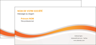 impression carte de correspondance web design orange gris texture MIF77202