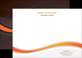 creation graphique en ligne flyers web design orange gris texture MIF77206