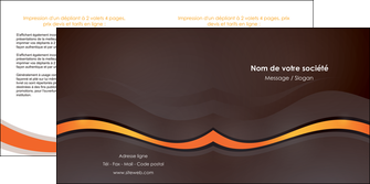 creer modele en ligne depliant 2 volets  4 pages  web design orange gris texture MIF77210