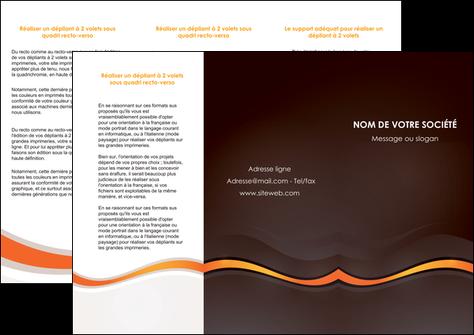 creation graphique en ligne depliant 3 volets  6 pages  web design orange gris texture MLGI77214