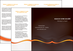 creation graphique en ligne depliant 3 volets  6 pages  web design orange gris texture MIF77214