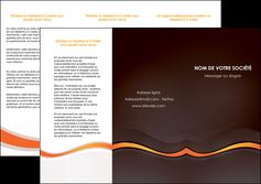Commander Plaquette de présentation Web Design papier publicitaire et imprimerie Dépliant 6 pages Pli roulé DL - Portrait (10x21cm lorsque fermé)