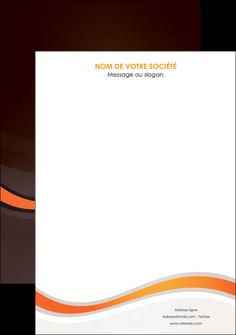 personnaliser maquette affiche web design orange gris texture MIF77222