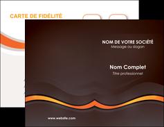 faire carte de visite web design orange gris texture MIF77224