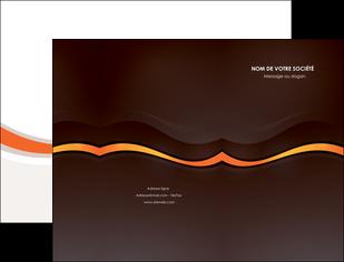 personnaliser maquette pochette a rabat web design orange gris texture MIF77226