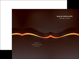 creer modele en ligne pochette a rabat web design orange gris texture MIF77228