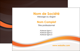 imprimer carte de visite web design orange gris texture MIF77240