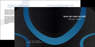 creer modele en ligne depliant 2 volets  4 pages  web design noir fond noir bleu MLGI78688