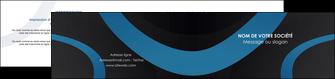 exemple depliant 2 volets  4 pages  web design noir fond noir bleu MLGI78694