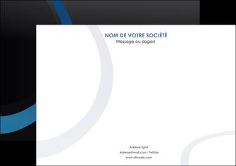 personnaliser modele de affiche web design noir fond noir bleu MLGI78700
