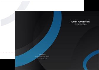 imprimerie pochette a rabat web design noir fond noir bleu MLGI78704
