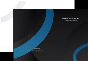 maquette en ligne a personnaliser pochette a rabat web design noir fond noir bleu MLGI78706