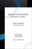 imprimer carte de visite web design noir fond noir bleu MLGI78708