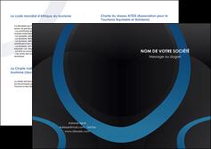creer modele en ligne depliant 2 volets  4 pages  web design noir fond noir bleu MLGI78712